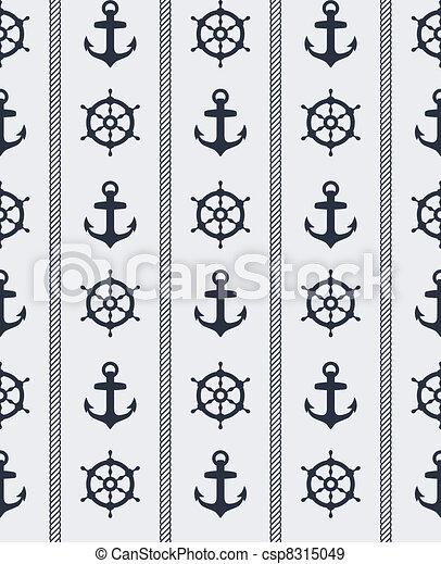 padrão, seamless, náutico - csp8315049