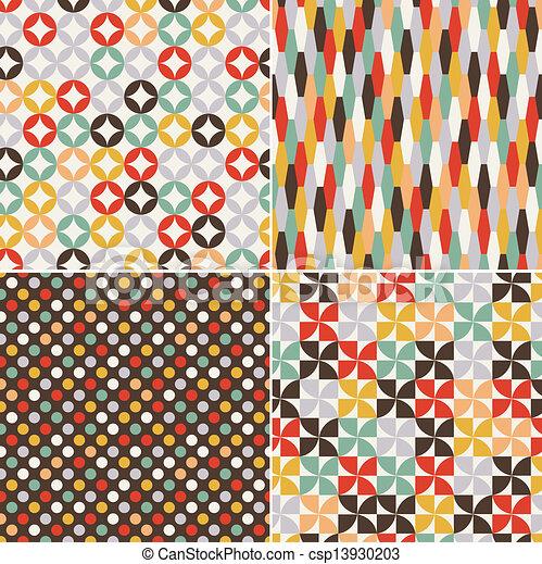 padrão, seamless, retro - csp13930203