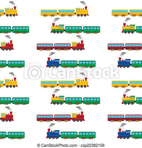 padrão, trem, seamless - csp22382156