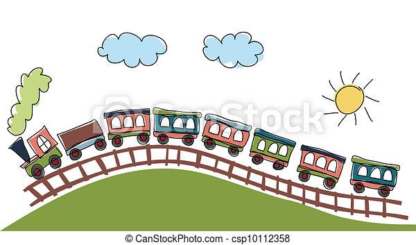 padrão, trem - csp10112358