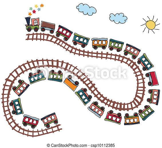 padrão, trem - csp10112385