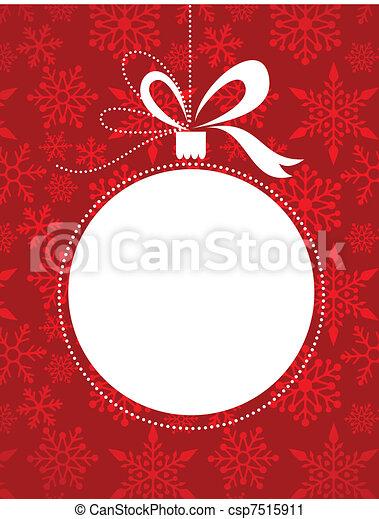padrão, vermelho, snowflakes, fundo, natal - csp7515911