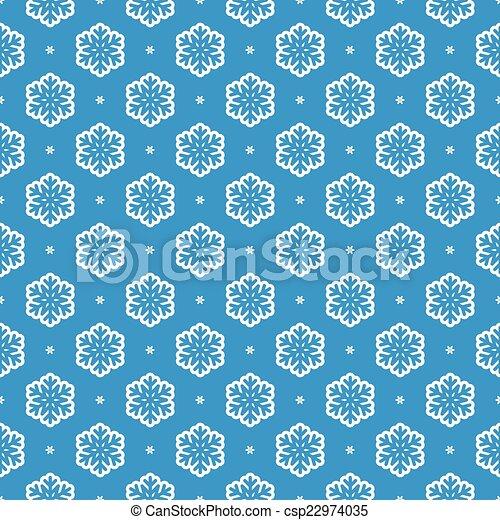 padrão, vetorial, seamless, fundo, snowflake - csp22974035