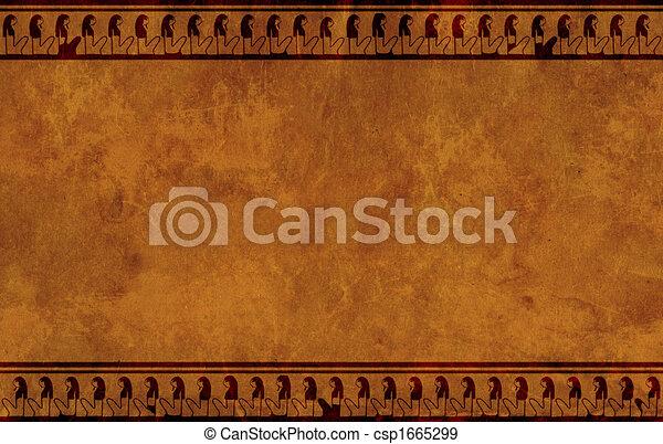 padrões, nacional, egípcio - csp1665299