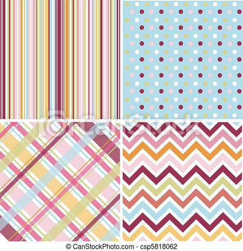 padrões, seamless, textura, tecido - csp5818062