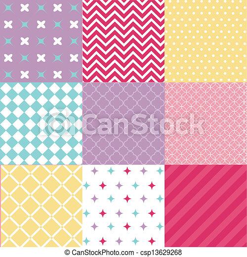 padrões, seamless, textura, tecido - csp13629268