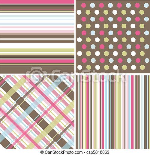 padrões, seamless, textura, tecido - csp5818063