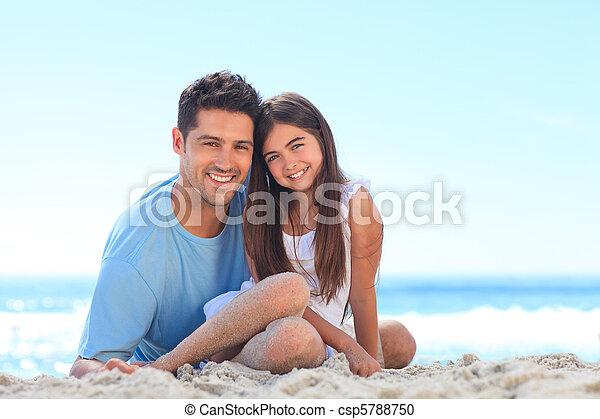 padre, figlia, suo - csp5788750