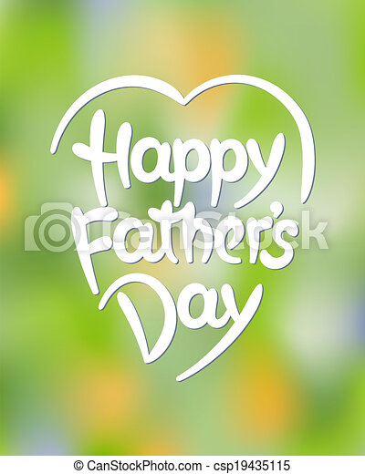 padre, iscrizione, hand-drawn, giorno, felice - csp19435115