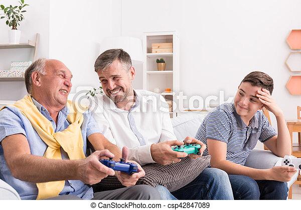 padre, nipote, figlio - csp42847089