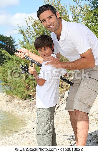 padre, pesca, figlio - csp8818822