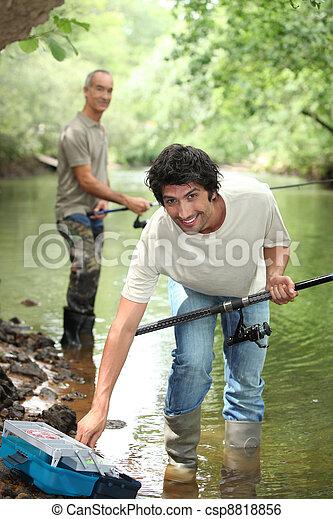 padre, pesca, figlio - csp8818856