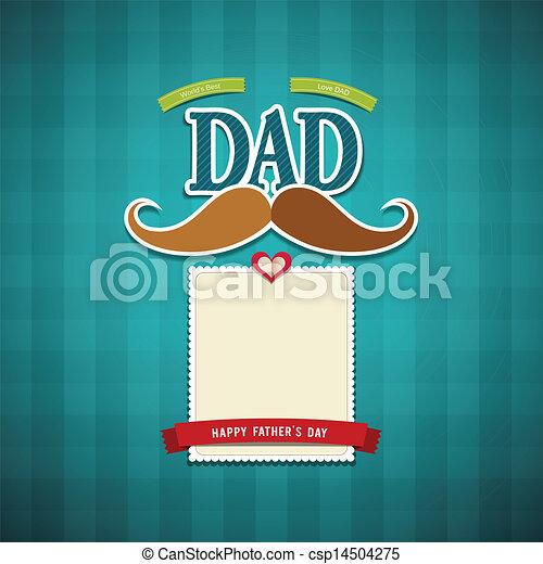 Feliz tarjeta de felicitación de los padres - csp14504275