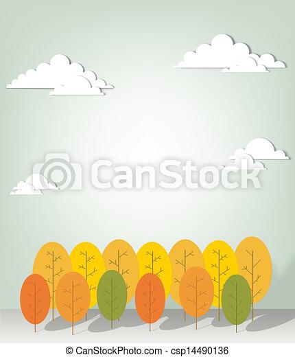 paesaggio autunno - csp14490136