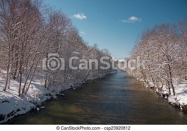 paesaggio inverno - csp23920812
