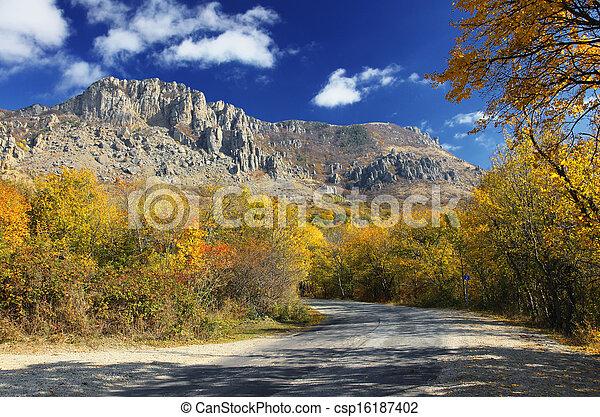 paesaggio montagna - csp16187402