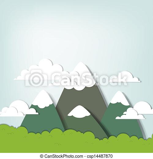 paesaggio montagna - csp14487870