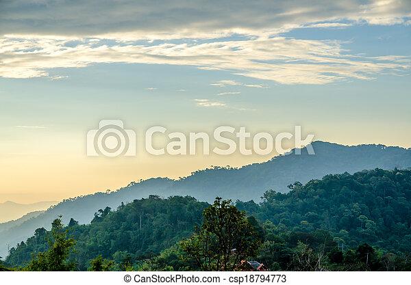 paesaggio montagna - csp18794773