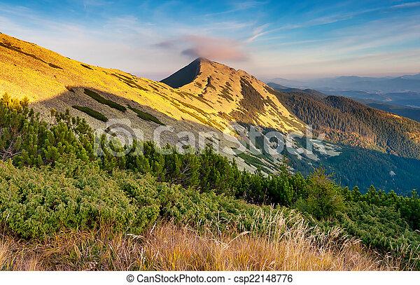 paesaggio montagna - csp22148776