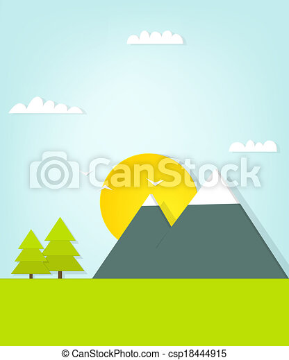 paesaggio montagna - csp18444915
