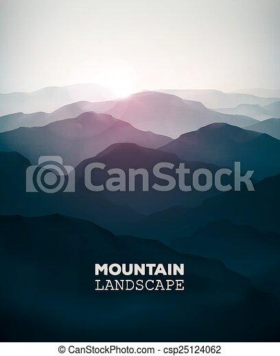 paesaggio montagna - csp25124062