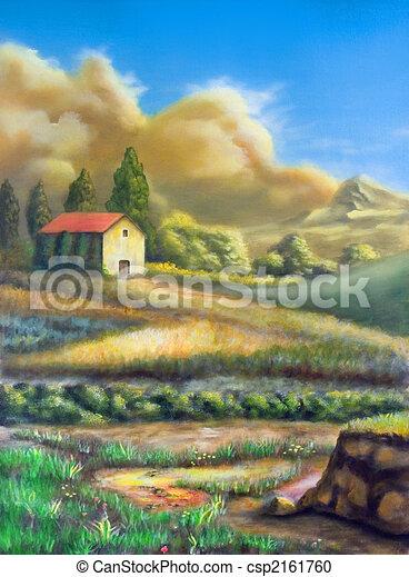 paesaggio rurale, italiano - csp2161760