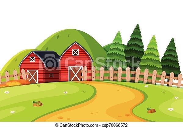 paesaggio rurale, paese - csp70068572