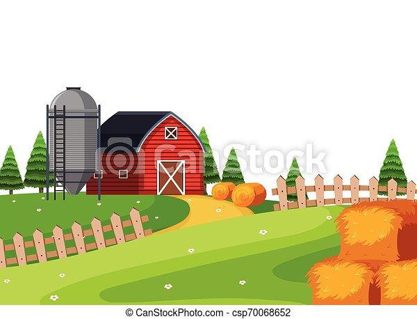 paesaggio rurale, paese - csp70068652