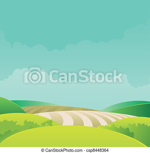 paesaggio rurale - csp8448364