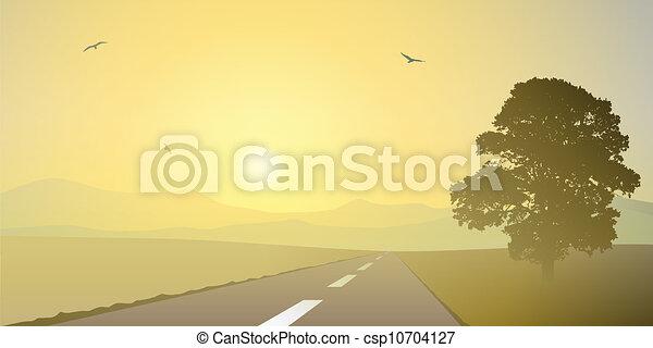 paesaggio, strada - csp10704127