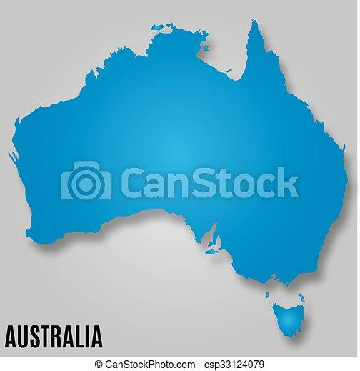 paese, australia, continente, mappa - csp33124079