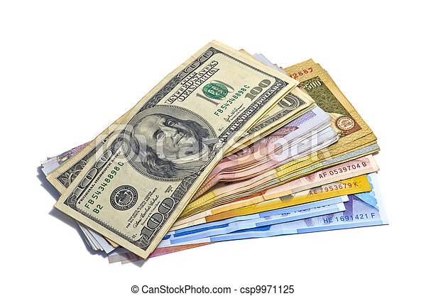 paese, soldi., contanti, mucchio, grande, molti, pila - csp9971125