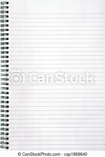 page., bianco, foderare, quaderno, vuoto - csp1869640