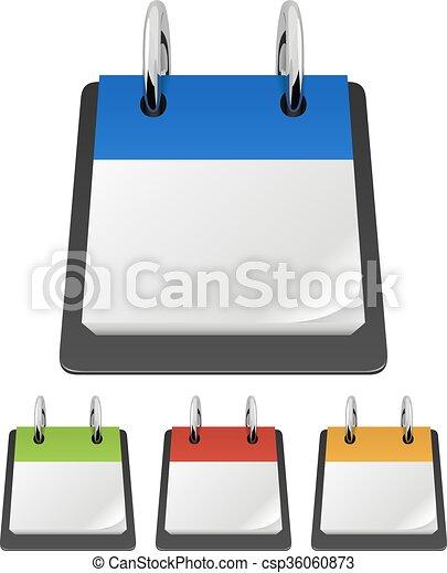 La plantilla del vector Calendar con página en blanco. - csp36060873