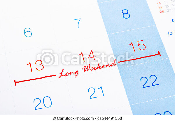 Page Calendrier.Page Calendrier Week End Long