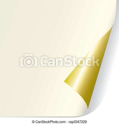 Page Curl (vector) - csp3347229