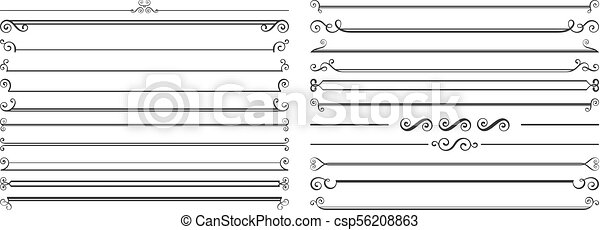 Page dividers set - csp56208863
