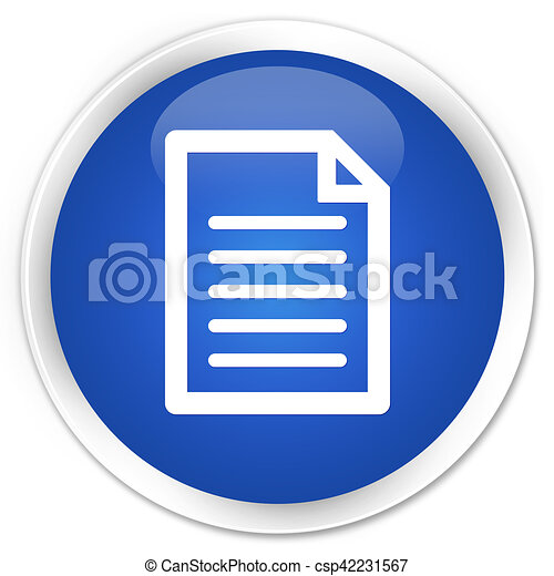 Page icon blue glossy round button - csp42231567