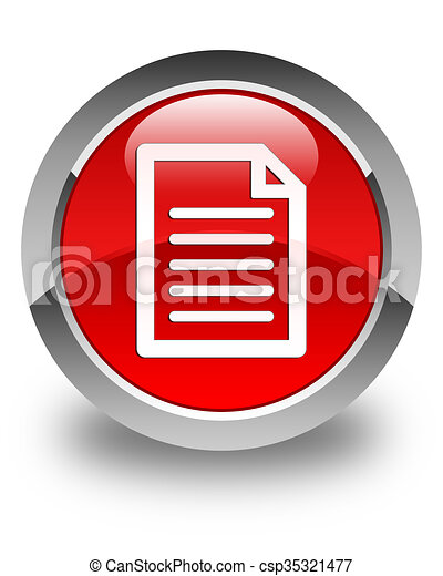 Page icon glossy red round button - csp35321477