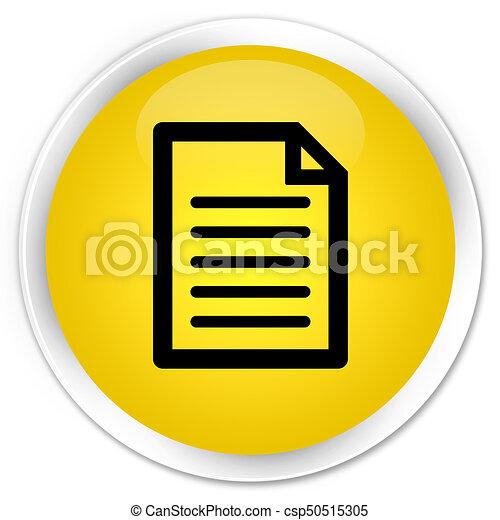 Page icon premium yellow round button - csp50515305