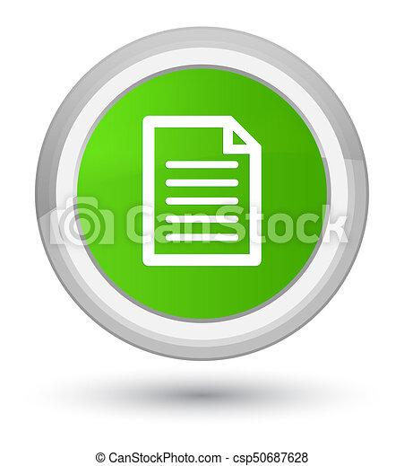 Page icon prime soft green round button - csp50687628