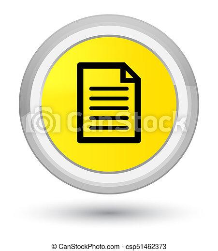 Page icon prime yellow round button - csp51462373