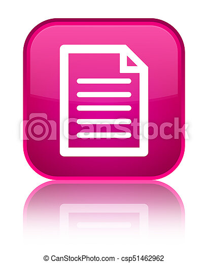 Page icon special pink square button - csp51462962