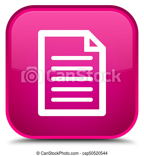 Page icon special pink square button - csp50520544