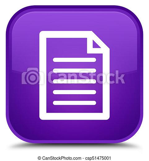 Page icon special purple square button - csp51475001