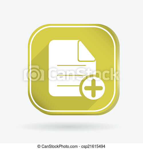 page of the document. Color square icon - csp21615494