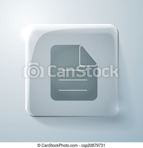 page of the document. Glass square icon - csp20879731