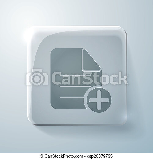 page of the document. Glass square icon - csp20879735