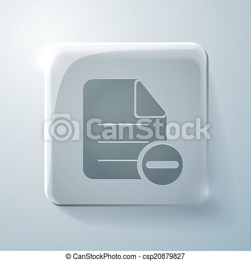 page of the document. Glass square icon - csp20879827