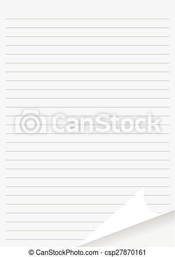 Page Paper Corner Curl - csp27870161
